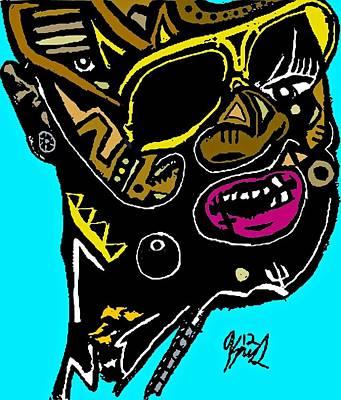 Blackart Digital Art - Rick Ross Full Color by Kamoni Khem