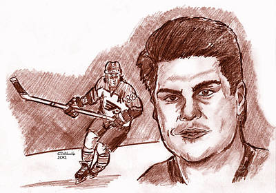 Drawing - Rick Tocchet by Chris  DelVecchio