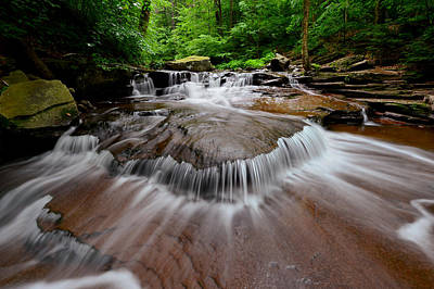 Photograph - Ricketts Glen Cascades by Bernard Chen