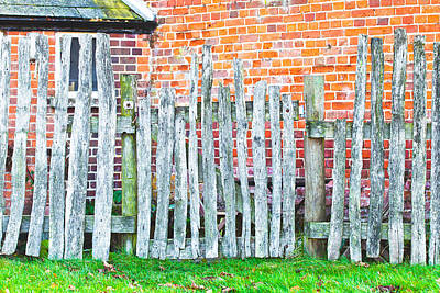 Wooden Fence Post Photograph - Rickety Fence by Tom Gowanlock