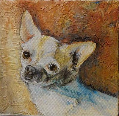 Rico Blue Chihuahua Art Print by Maureen Pisano