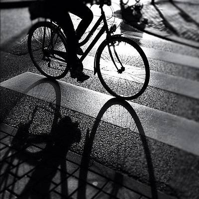 Bike Photograph - Ride The Lin. #shadow #bike #cycling by Robbert Ter Weijden