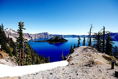 Photograph - Ridge On Crater Lake by Michael Courtney