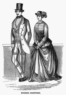 Equestrian Fashion Photograph - Riding Costumes, 1853 by Granger