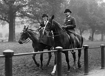 Riding In Hyde Park Art Print by Hulton Collection