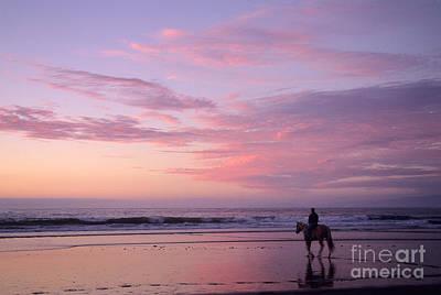 Anonymity Photograph - Riding Into The Sunset by Ei Katsumata