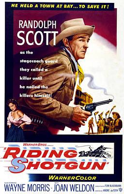Riding Shotgun, Joan Weldon, Randolph Art Print by Everett