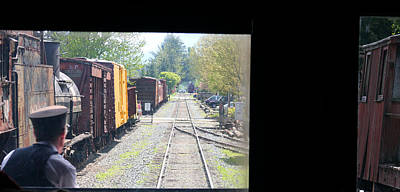 Photograph - Riding The Rails Near Snoqualmie Falls Wa by Marie Jamieson