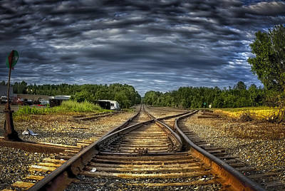 Riding The Tracks Art Print by Gary Smith