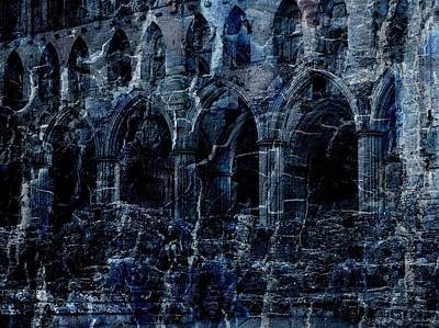 Rievaulx In The Crack Of Night Art Print by Jen White