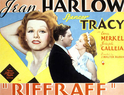 Riffraff, Jean Harlow, Spencer Tracy Art Print by Everett