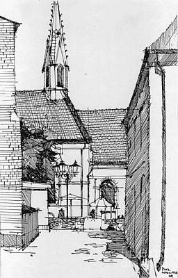 Drawing - Riga - Latvia by Natalia Eremeyeva Duarte