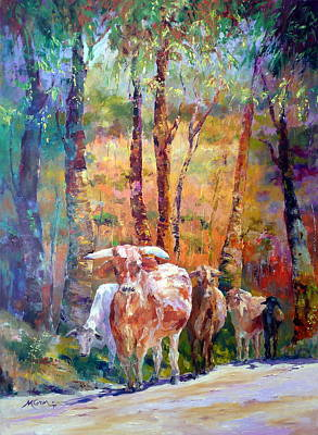 Marie Green Painting - Right Of Way by Marie Green