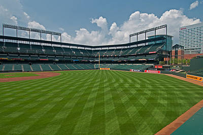 Photograph - Right To Left At Oriole Park by Paul Mangold