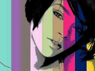 Rihanna 2 Art Print by Chandler  Douglas
