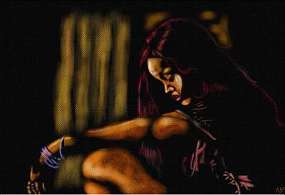 Rihanna Art Print by Anthony Crudup