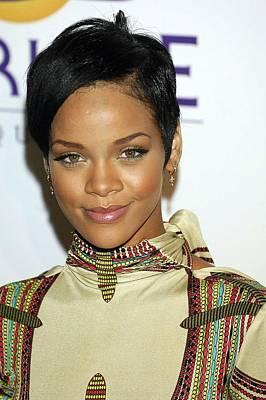 Rihanna Wall Art - Photograph - Rihanna At Arrivals For Clive Davis by Everett