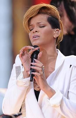 Rihanna Wall Art - Photograph - Rihanna On Stage For Good Morning by Everett