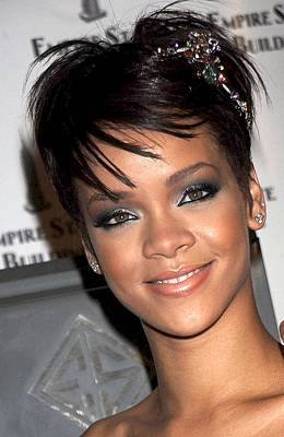 Rihanna Photograph - Rihanna Wearing A Cartier Tiara by Everett