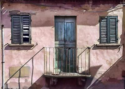 Digital Art - Rimini Balcony by Sharon Foster