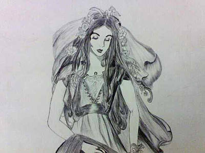 Drawing - rin by Chitra Helkar
