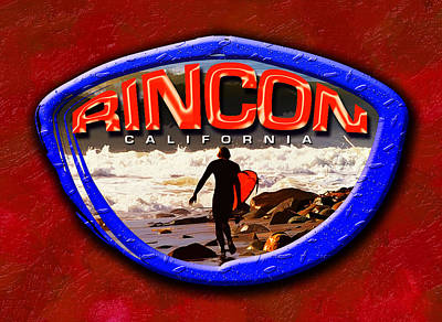 So. Cal Wall Art - Digital Art - Rincon Logo by Ron Regalado