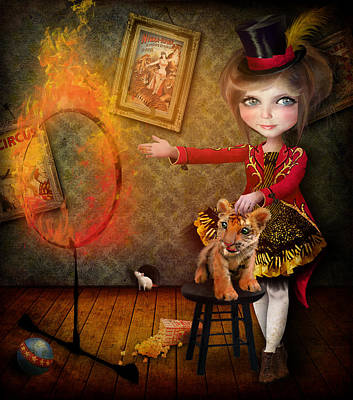 Carnival Wall Art - Digital Art - Ring Of Fire by Jessica Von Braun