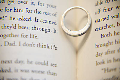 Custom Engagement Ring Photograph - Ring With Heart by Malania Hammer