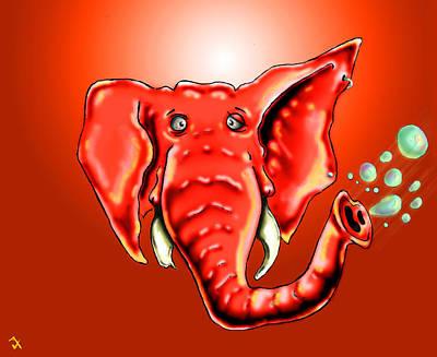 Cartoon Animals Drawing - Ringo Party Animal Red by Adam Vance
