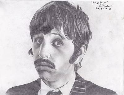 Beatlemania Drawing - Ringo Starr by Ethan Morehead