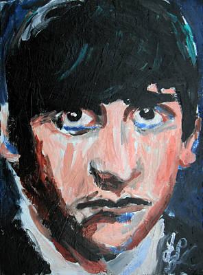 Ringo Starr  Art Print by Jon Baldwin  Art