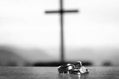 Photograph - Rings And Cross by Kelly Hazel