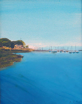 Art Print featuring the painting Rings Island by Anthony Ross