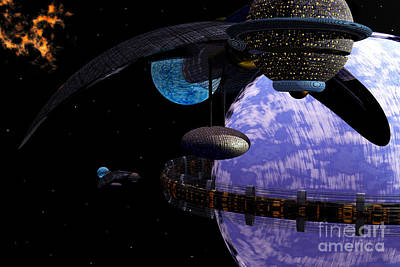 Digital Art - Ringworld by Nicholas Burningham