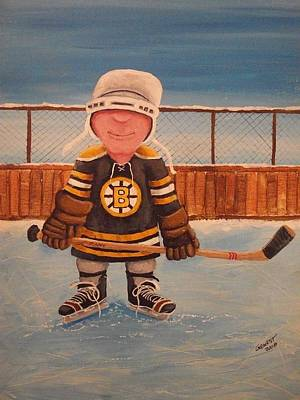 Nhl Winter Classic Painting - Rinkrattz - Jonny - Boston  by Ron  Genest