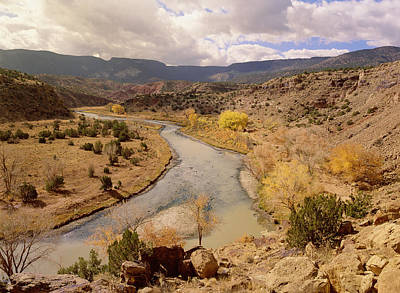 Rio Chama In Autumn New Mexico Print by Tim Fitzharris