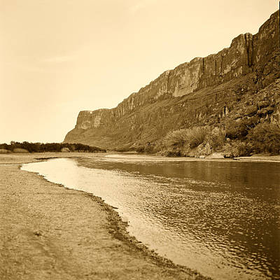 Photograph - Rio Grand Big Bend Monochrome by M K Miller