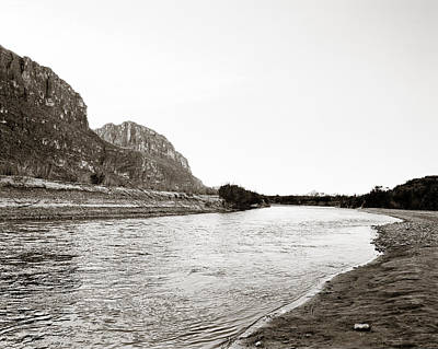 Photograph - Rio Grand Big Bend  Park Monochrome by M K Miller