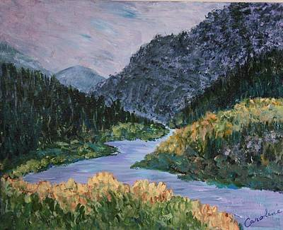 Grande Painting - Rio Grande by Carolene Of Taos
