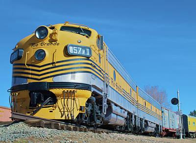 Colorado Railroad Museum Photograph - Rio Grande Diesel by Stephen  Johnson
