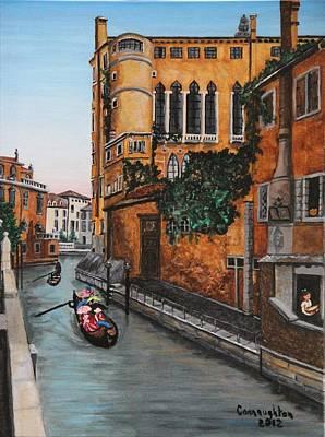 Rio San Trovaso Venice 1890 Original