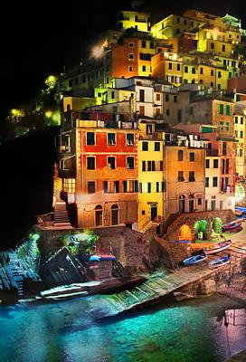 Photograph - Riomaggiore Di Notte by John Galbo