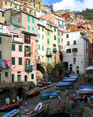 Photograph - Riomaggiore's Harbor by Carla Parris