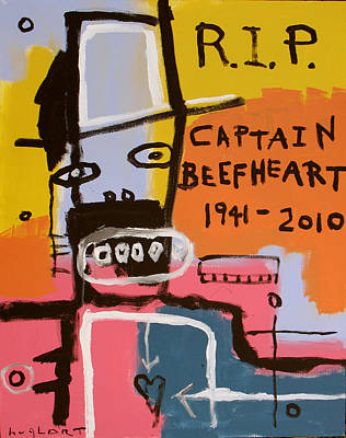 Captain Beefheart Painting - Rip Captain Beefheart by Jeff Hughart