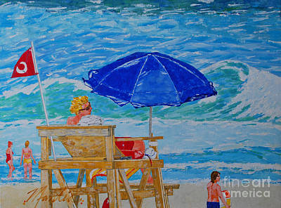 Painting - Rip Current Warinings by Art Mantia
