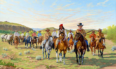 Painting - Rip Ford's Dps 1850 by Howard Dubois