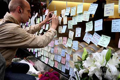 Rip Steve Jobs . October 5 2011 . San Francisco Apple Store Memorial 7dimg8576 Art Print by Wingsdomain Art and Photography