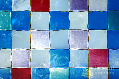 Ripple Tiles Art Print by Carlos Caetano
