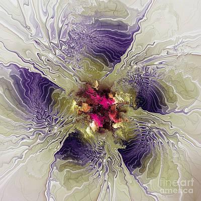 Rippled Petals Art Print by Deborah Benoit