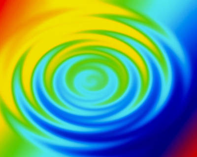 Ripples From Water Drop In Colours Art Print by Mehau Kulyk